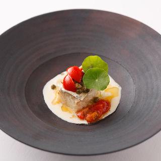 真鯛のクリームソース仕立て(イルバンビナッチョ )