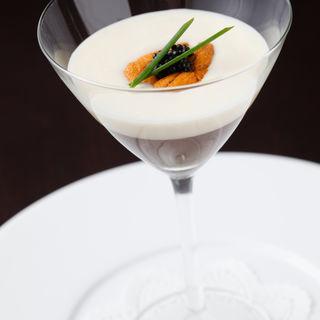 雲丹のクリームソース(ジェアッシュヴェ ワイン&マリアージュ)