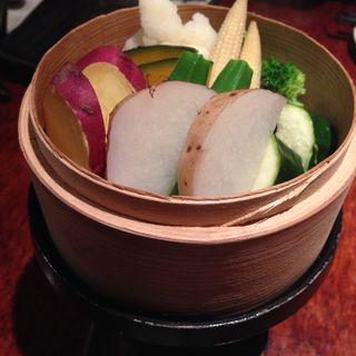 季節野菜のせいろ蒸し(あさ山 (あさやま))