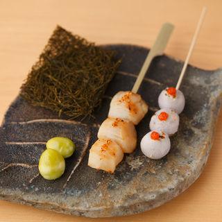 季節の串焼き(銀座ありそ)