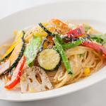 温野菜のパスタ