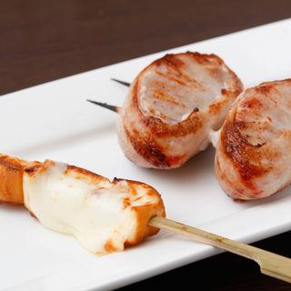 豚肉の串焼き(炭火串焼 銀座 荻)