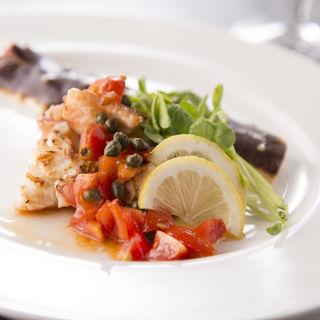 鮮魚のグリル トマト添え(鉄板焼 いちか )