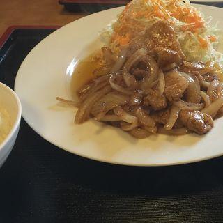 生姜焼き定食(みなとまち食堂 )