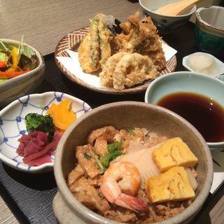 かやくご飯と天ぷら膳(銀座天一 玉川高島屋店 (ぎんざてんいち))
