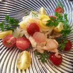 白身魚のカルピオーネ トマトとグレープフルーツのサラダ添え