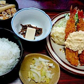 海老フライ定食(とんかつ美代)