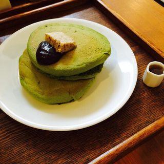 抹茶ホットケーキ(うめぞの カフェアンドギャラリー (うめぞの CAFE & GALLERY))