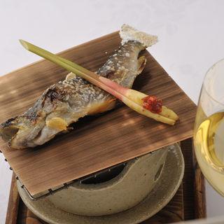 鮎の塩焼き(日本料理 銀座 大野 (にほんりょうり ぎんざ おおの))