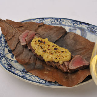 和牛の大葉味噌焼き(日本料理 銀座 大野 (にほんりょうり ぎんざ おおの))