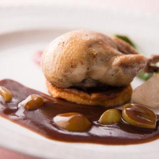 鶏肉とフォアグラのロッシーニ(ラブレー)