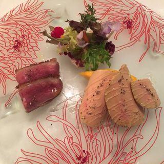 フレッシュフォアグラとマンゴー (クッチーナ イタリアーナ ガッルーラ (Cucina Italiana Gallura))