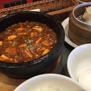 石焼陳麻婆豆腐定食(喜神菜館 喜志本店 (キシンサイカン))