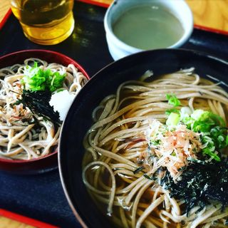 釜揚げ蕎麦と割子1枚(田村そば)