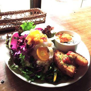 ピタパンサンドプレート(ヤドカリカフェ (yadokari cafe))
