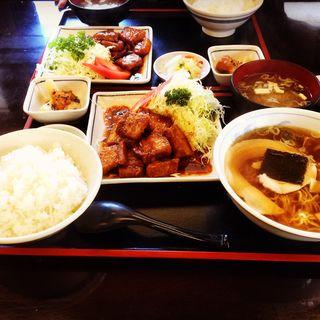 豚バラ定食(みよし食堂 )