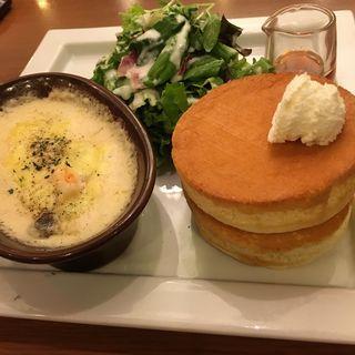 グラタンパンケーキプレート(星乃珈琲店 ホワイティ梅田店 )