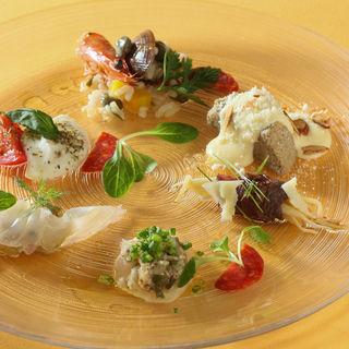 鮮魚のカルパッチョ(リストランテ・オステリア (Ristorante L'osteria))