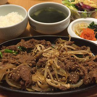 プルコギ定食(韓国食彩 にっこりマッコリ そごう千葉店 )