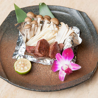 和牛とキノコのホイル焼き(雅山GARDEN (ガザンガーデン))