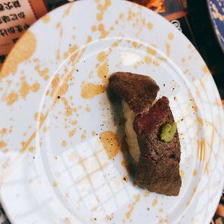 常陸牛ステーキ握り(にぎりや松 )