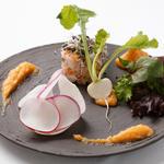 蟹身と野菜添え
