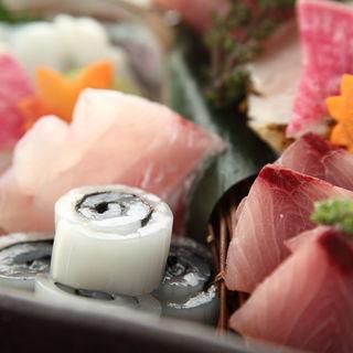 鮮魚の盛り合わせ(銀座 竹の庵 5丁目本店 (ギンザ タケノアン))