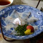 白身のうす造り(京料理 四季cafe (キョウリョウリ シキカフェ))