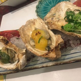 牡蠣の三種焼き(さかえ寿司 (さかえすし))