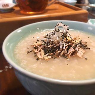 茶葉粥のランチセット(華泰茶荘 渋谷店)