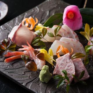 鮮魚と和牛の盛り合わせ(えん名古屋 JRセントラルタワーズ店 )