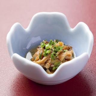 カイヒモと豆腐のお浸し(割烹よし田 )