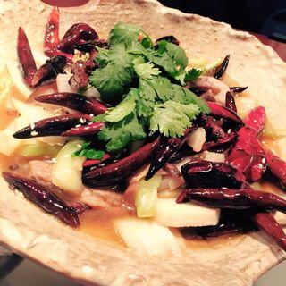 国産牛ロースと野菜の唐辛子煮(辰春 )