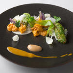雲丹の野菜仕立て