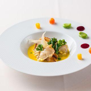 豚肉のグリル カボチャソース(レスプリ ドゥ クゥー ドゥ フランス (Lesprit de Coeur de France 【旧店名】COEUR de FRANCE))