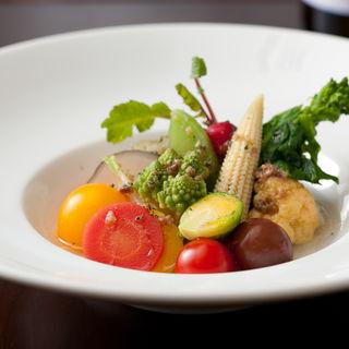 温野菜のグリル(山下ワイン食道)