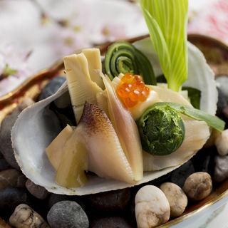 筍と巻貝の煮付け(博多石焼 大阪屋 (はかたいしやき おおさかや))
