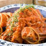 海老と豚肉のトマト煮込み