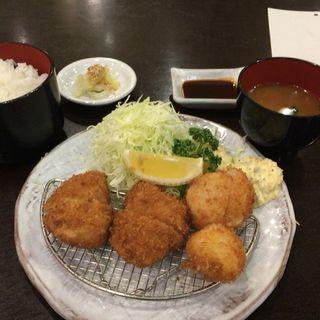 ヒレカツ&ホタテフライ 定食(すゞ家 大須赤門店 (すずや))