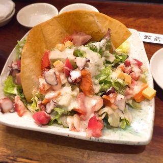 海鮮シーサーサラダ(すし屋銀蔵 秋葉原店 (ぎんぞう))