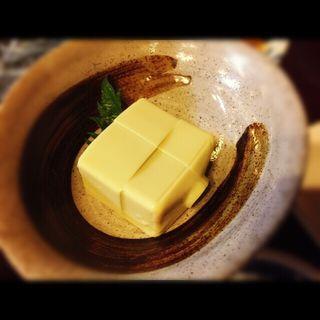 カニ味噌豆腐(居酒屋まるちん )