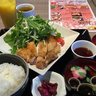 国産鶏もも炙り定食 (おろしポン酢)(全や連総本店 東京)
