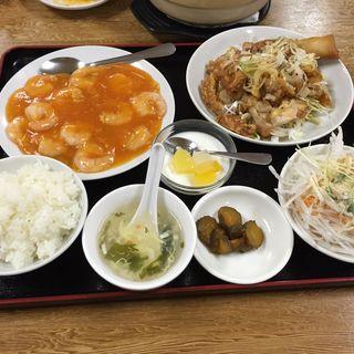 エビチリ定食(四季紅)