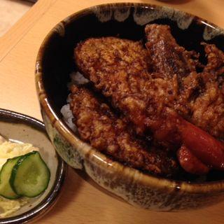 ミニ黒道天丼(手打ち蕎麦道 )