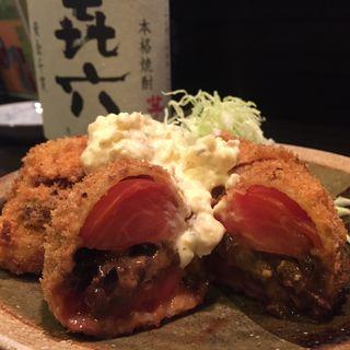 トマトのおいしいフライ(遊食楽酒 舫 人形町店 (ゆうしょくらくしゅ もやい))