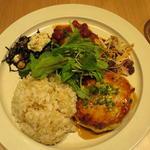 Vegan lunch の豆腐ハンバーグ(リバイヴキッチン (revive kitchen))
