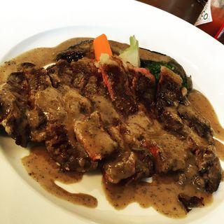 サーロインステーキ黒こしょうソース(旬彩ぷらんたん )