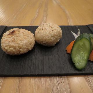 玄米餅と煎茶のセット(HIGASHIYA GINZA (ヒガシヤギンザ))