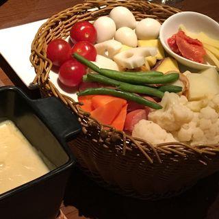 4種のチーズと西京味噌のチーズフォンデュ(SAIKA 銀座店 (サイカ))