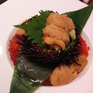 雲丹とイクラの合せ飯 UNIKURA丼(美食米門品川港南 Wine&Grill )